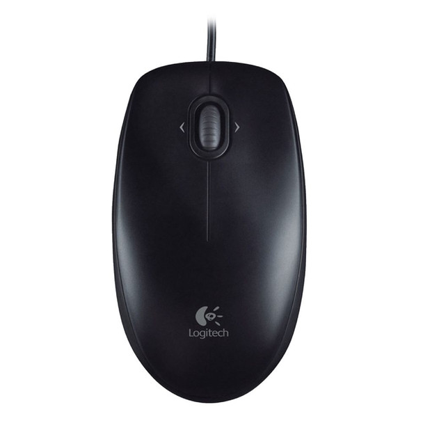 Logitech M100R Wired Mouse Black