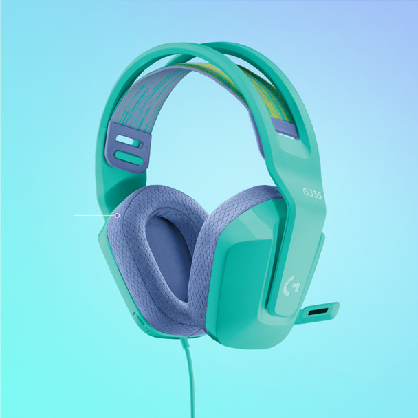 Logitech G335 Wired Gaming Headset Mint