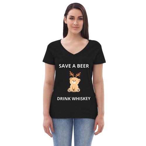 SAVE A BEER Women's V-neck T-shirt