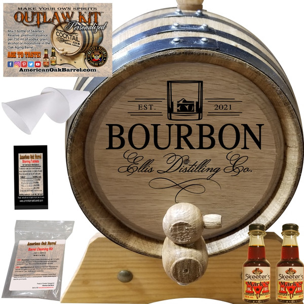 PERSONALIZED OUTLAW KIT™ (402) YOUR BOURBON DISTILLING CO. - CREATE YOUR OWN BOURBON AT HOME