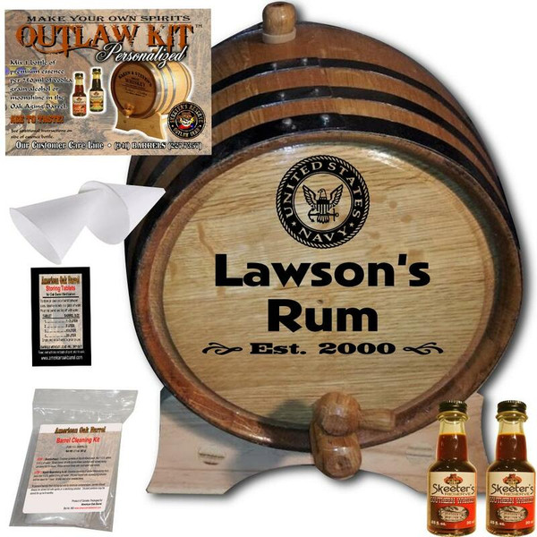 Personalized Outlaw Kit™ (018) Navy Spirit - U.S. Navy Officer and Navy Chief retirement gift idea