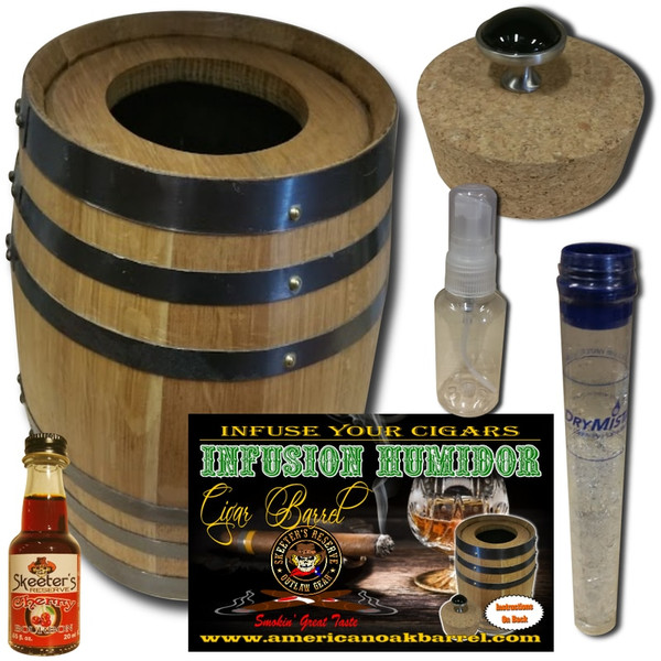 INFUSION HUMIDOR CIGAR BARREL™ - CHERRY BOURBON WHISKEY