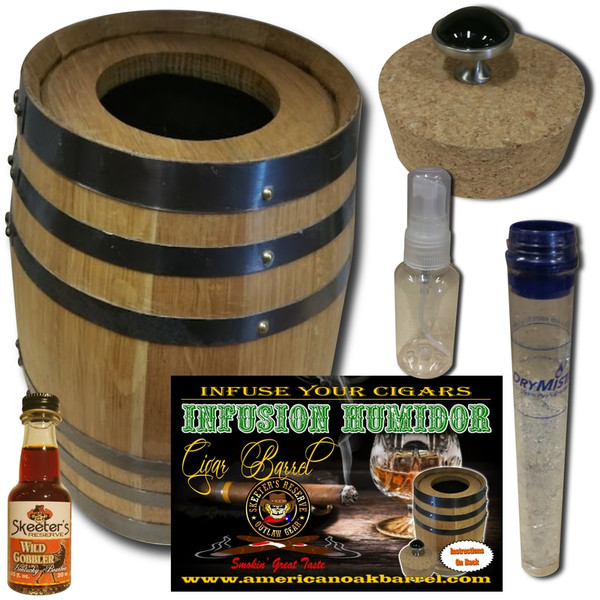 Infusion Humidor Cigar Barrel™ - Wild Gobbler Bourbon Whiskey