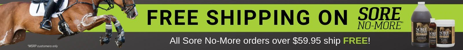 Free Shipping on Sore No-More