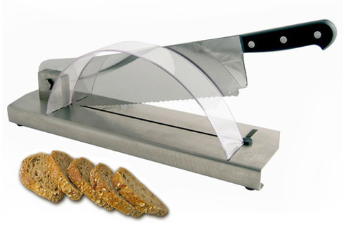 Bread slicer on a stainless steel base Bron Coucke 35CPX