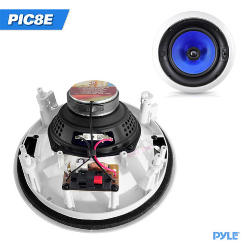 In-Wall / In-Ceiling High Performance Dual 8'' Speaker System 300 Watt Two-Way Adjustable Treble Control PIC8E