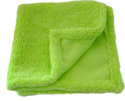 "Hidden Edge Green: Microfiber Towel - 16"" x 16"""