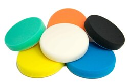 "(6 Pack) 6 1/4"" Buff and Shine Foam Pads"
