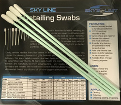 Long Reach Mini Foam Swabs