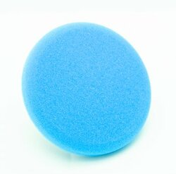 "6 1/2"" Low Profile Hydrotech Cyan Heavy Polishing Pad"