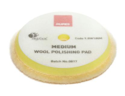 "RUPES Yellow Medium Wool Pad - 6"" (9.BW180M)"