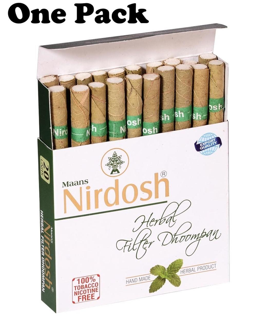 Nirdosh Herbal Filtered Cigarettes - 1 Pack [20 Cigarettes]
