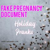 Fake Pregnancy Document Holiday Pranks
