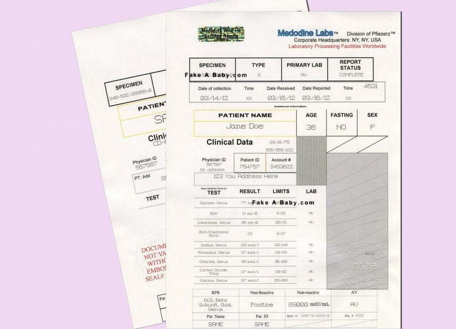 fake pregnancy paper