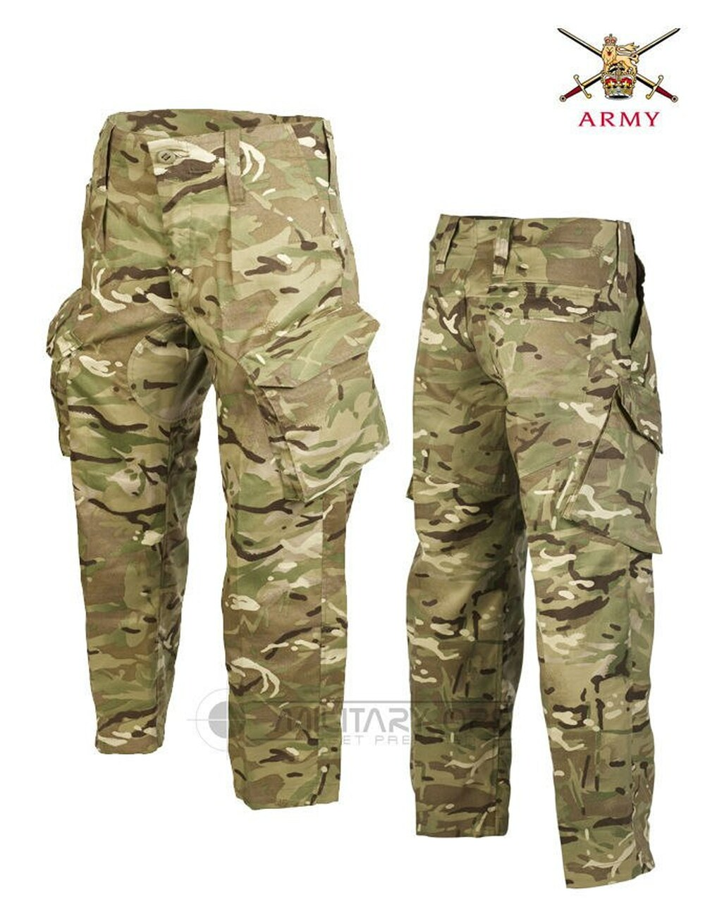 CAMOUFLAGED COMBAT ARMY CARGO TROUSERS sz 36 forest DPM