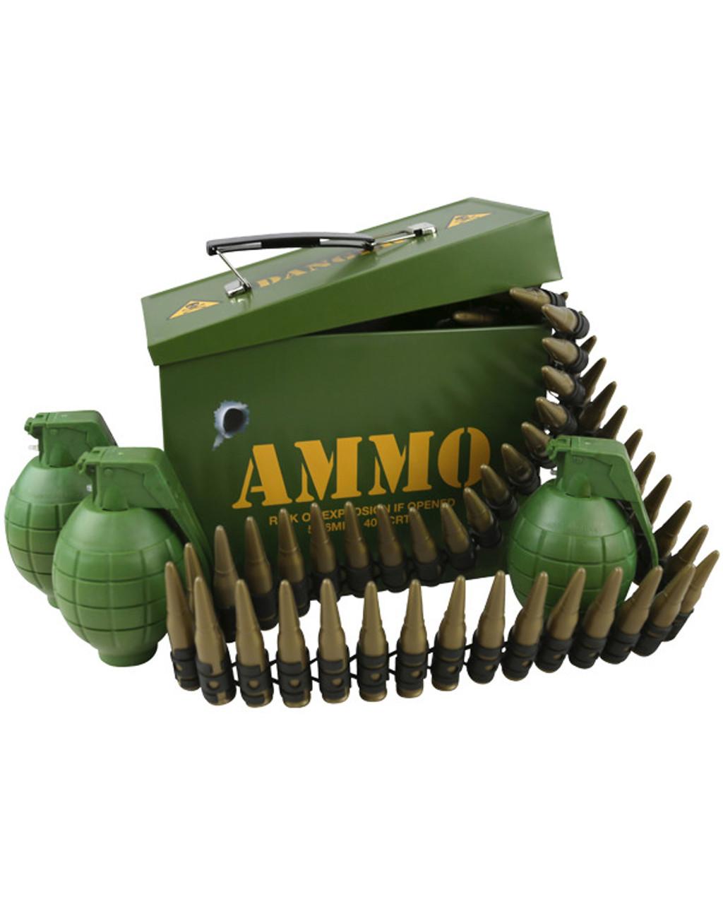Children's Army Grenade & Bullet Belt Ammo Box