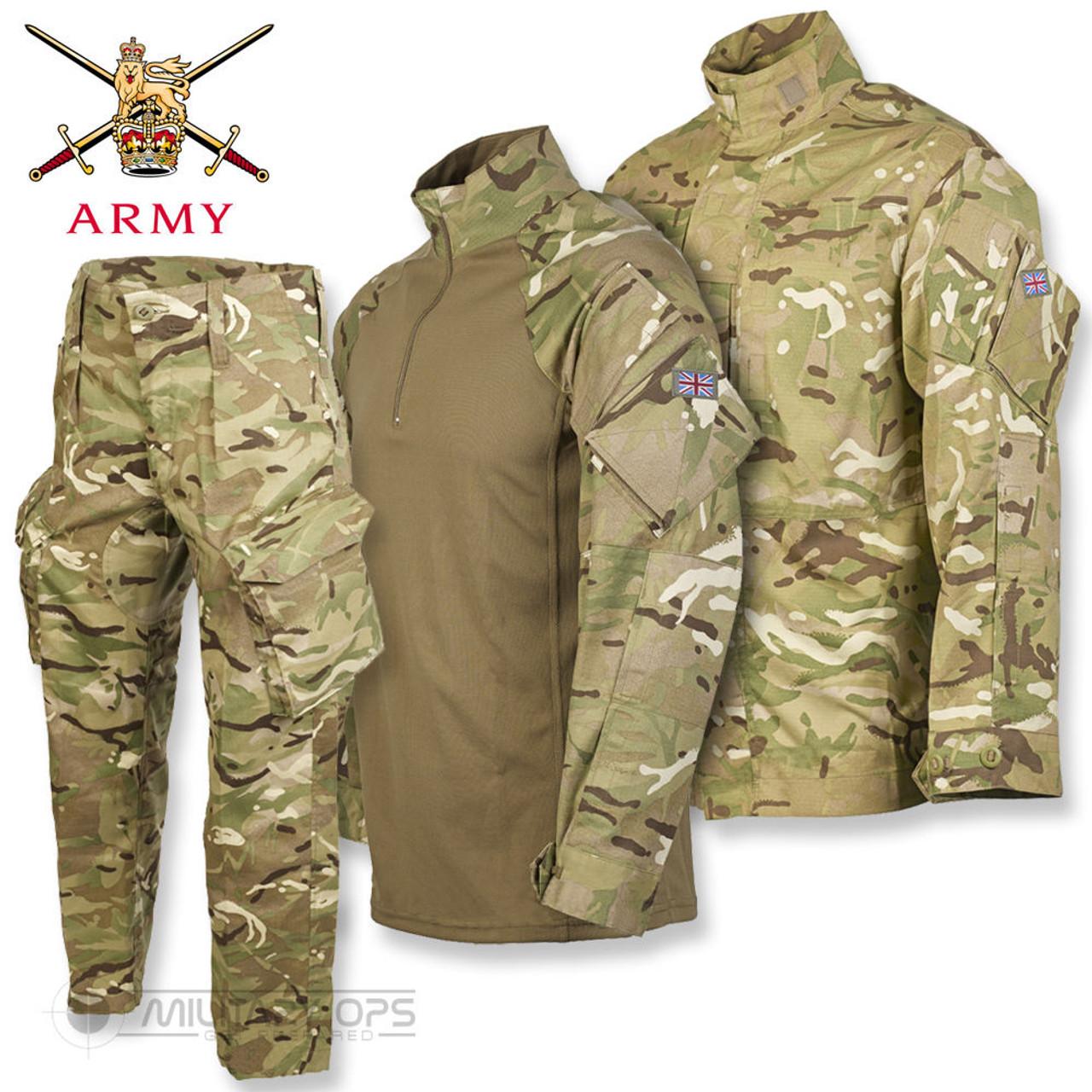 GENUINE ISSUE GRADE ONE BRITISH ARMY UNIFORM BUTTON 95 STYLE SHIRT MTP