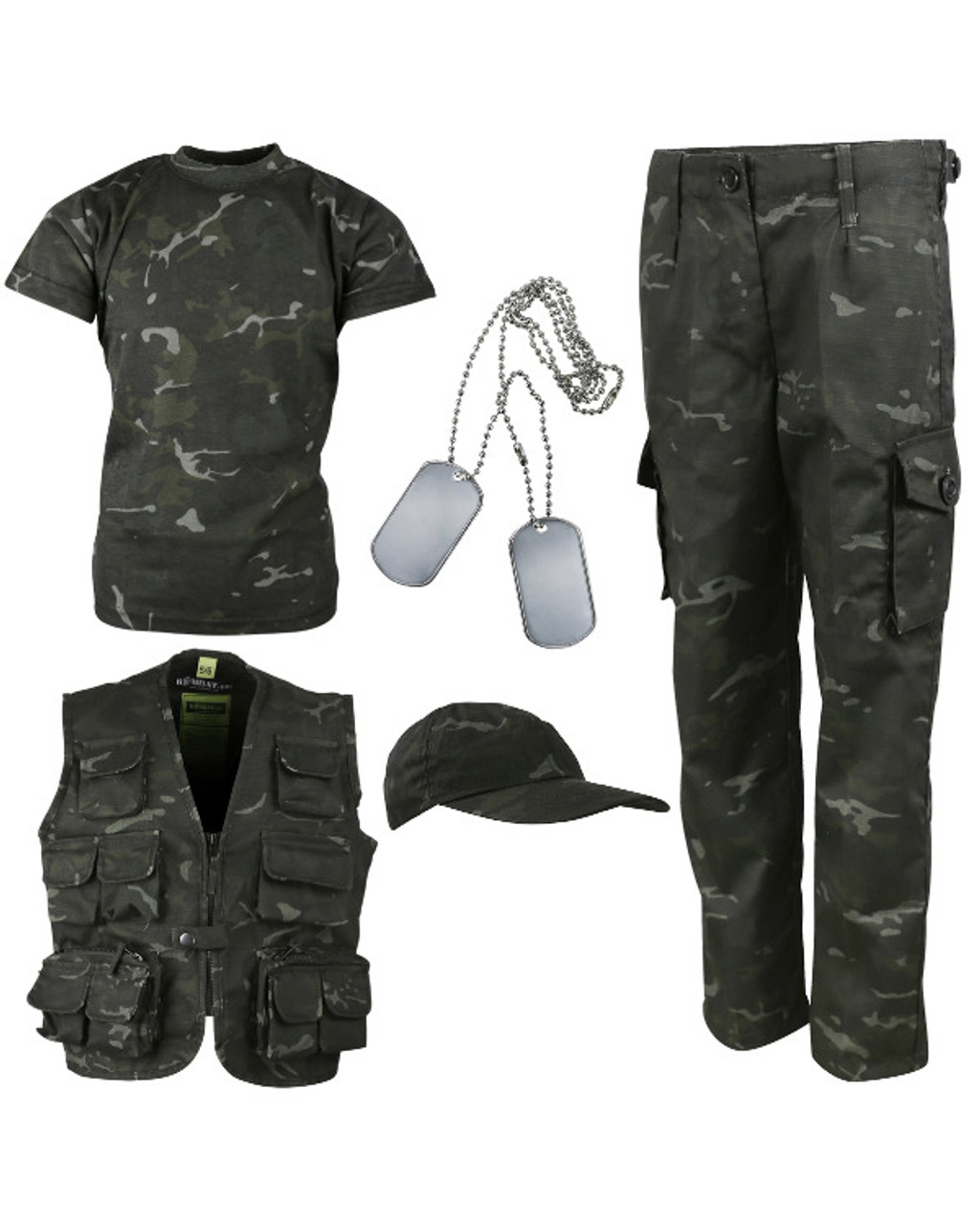 KIDS CHILDRENS MTP PCS CAMO SET T SHIRT TROUSERS HOODIE SOLDIER 95 BRITISH ARMY