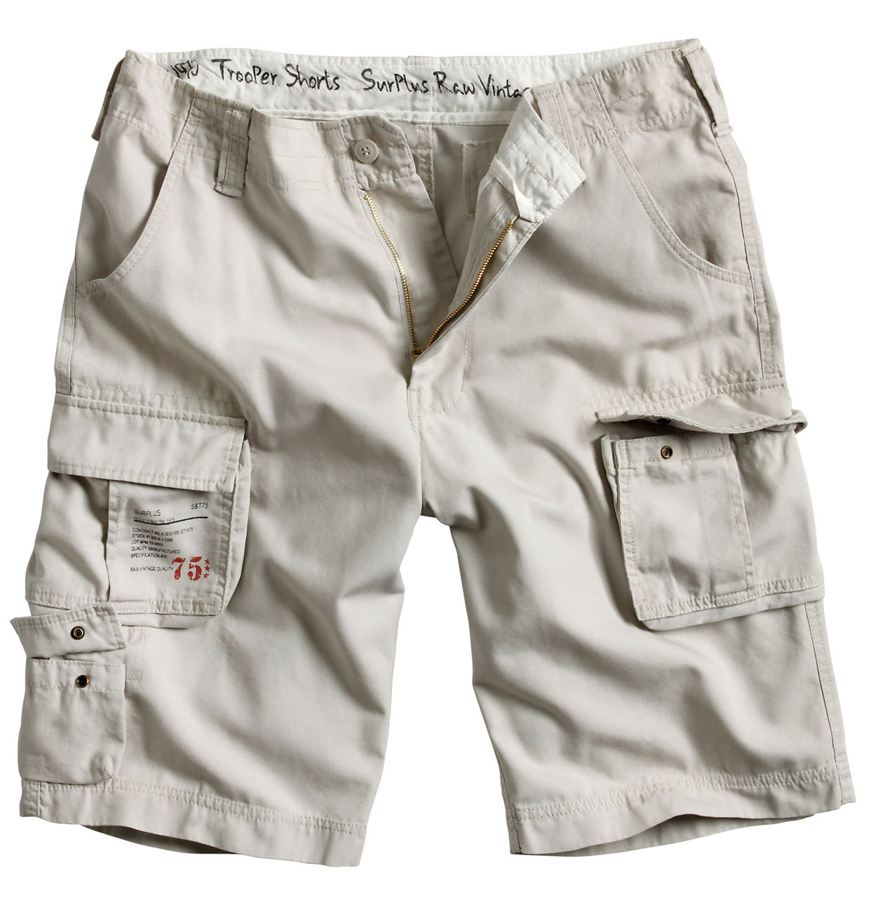 0310e4b855 Surplus Trooper Shorts Off White - MilitaryOps Ltd