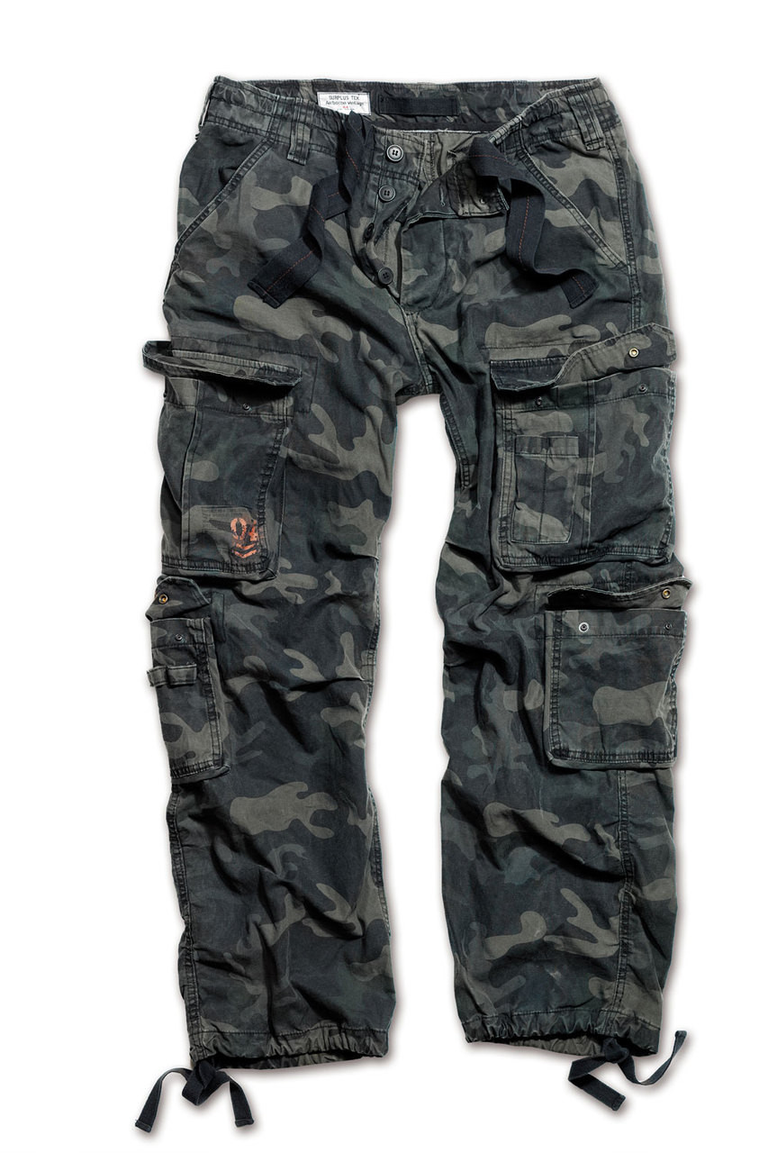 Surplus Airborne Vintage Trousers Black Camo - MilitaryOps Ltd a2ac415d83299