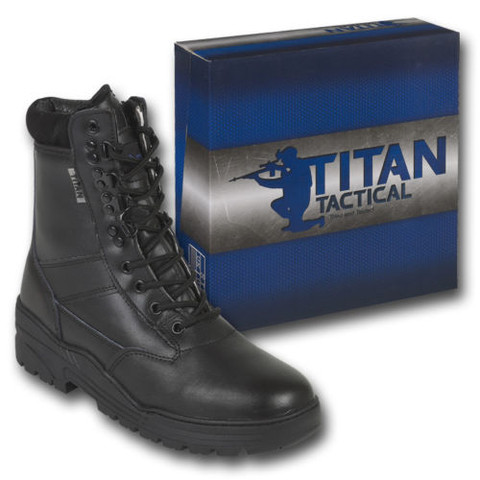 Kombat Black Half Leather Army Combat Boots Tactical Cadet Security Police Kit