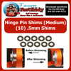 Hinge Pin Shim Kit .5mm