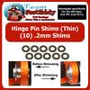 Hinge Pin Shim Kit .2mm