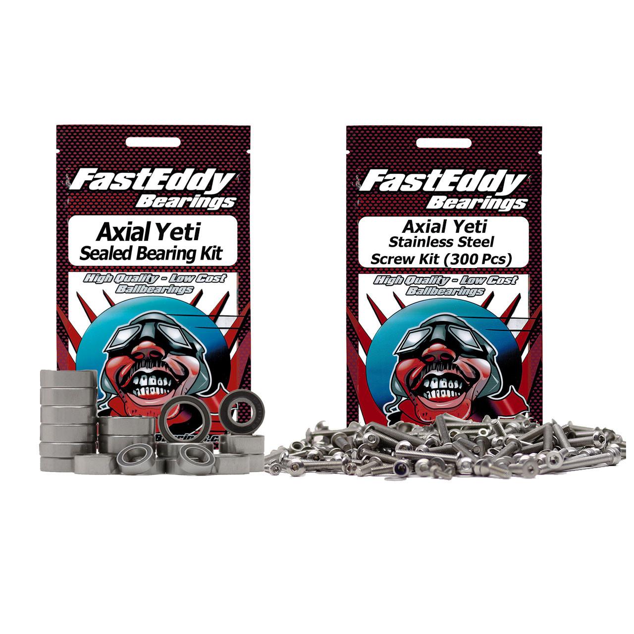 Axial Yeti Bearing and Screw Kit Combo