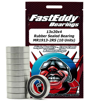 13x20x4 Rubber Sealed Bearing MR1913-2RS (10 Units)
