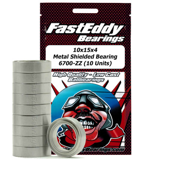 Tamiya 1510 Metal Shielded Replacement Bearing 10X15X4 (10 Units)