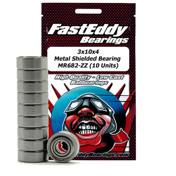 3x10x4 Metal Shielded Bearing MR682-ZZ (10 Units)