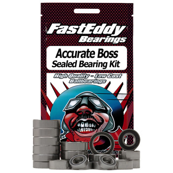 Accurate Boss Two Speed Fishing Reel Rubber Sealed Bearing Kit