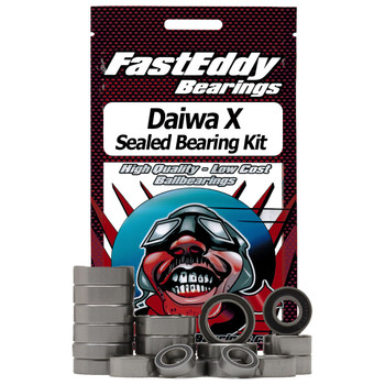 Daiwa X Baitcaster Fishing Reel Rubber Sealed Bearing Kit (Gummidichtung)