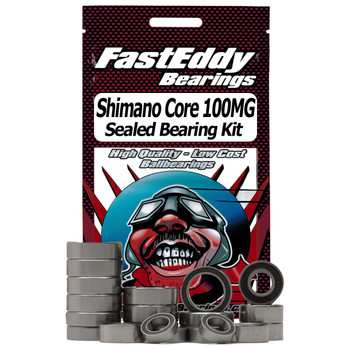 Shimano Core 100MG Baitcaster vollständig Angelrolle Gummi Sealed Bearing Kit