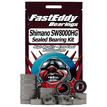 Shimano SW8000HG Spinning Reel Rubber Sealed Bearing Kit