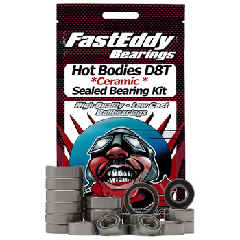 Hot Bodies D8T Ceramic Rubber Sealed Bearing Kit (Keramische Gummidichtungen)