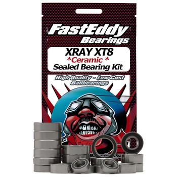 XRAY XT8 Ceramic Rubber Sealed Bearing Kit (Keramische Gummidichtung)