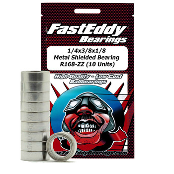 1/4x3/8x1/8 Metal Shielded Bearing R168-ZZ (10 Units)