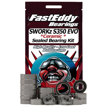 SWORKz S350 EVO Buggy Ceramic Rubber Sealed Bearing Kit