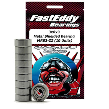 3x8x3 Metal Shielded Bearing MR83-ZZ (10 Stück)