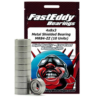 4x8x3 Metal Shielded Bearing MR84-ZZ (10 Units)