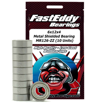 6x12x4 Metal Shielded Bearing MR126-ZZ (10 Units)
