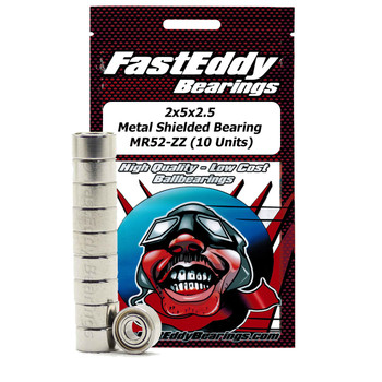 2x5x2.5 Metal Shielded Bearing MR52-ZZ (10 Units)