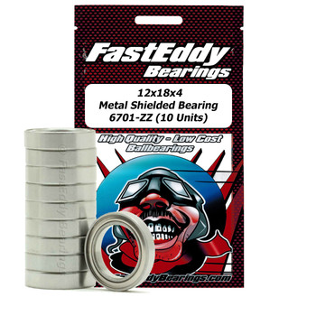 12x18x4 Metal Shielded Bearing 6701-ZZ (10 Units)
