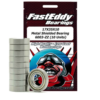 17X35X10 Metal Shielded Bearing 6003-ZZ (10 Units)
