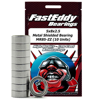 5x8x2.5 Metal Shielded Bearing MR85-ZZ (10 Units)