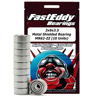 2x6x3.5 Metal Shielded Bearing MR62-ZZ (10 Units)