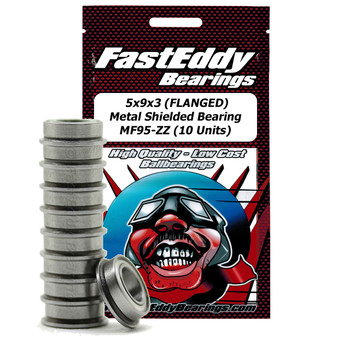 5x9x3 (FLANSCHT) Metal Shielded Bearing MF95-ZZ (10 Stück)