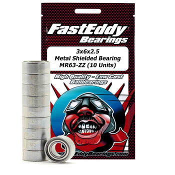 3x6x2.5 Metal Shielded Bearing MR63-ZZ (10 Units)