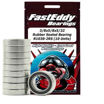 3/8x5/8x5/32 Rubber Sealed Bearing R1038-2RS (10 Units)